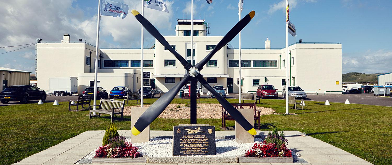 Brighton city airport main terminal building entrance