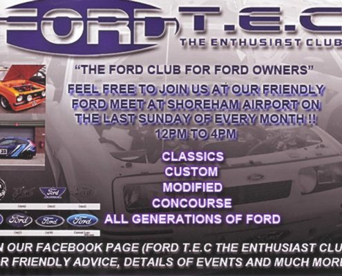 Whats on at brighton city airport - ford tec enthusiast club