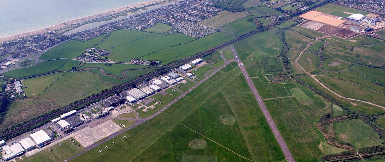Brighton City Airport runways arial view