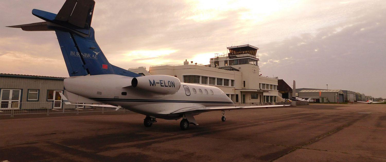 Visit Brighton city airport - aircraft at main terminal